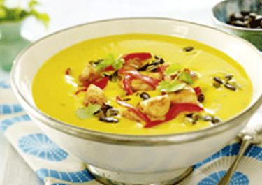 "Kürbiscreme-Suppe ""India"""