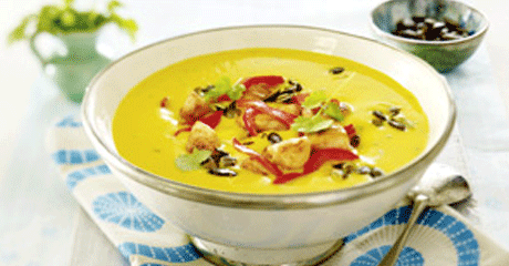 "Kürbiscreme-Suppe ""India"""