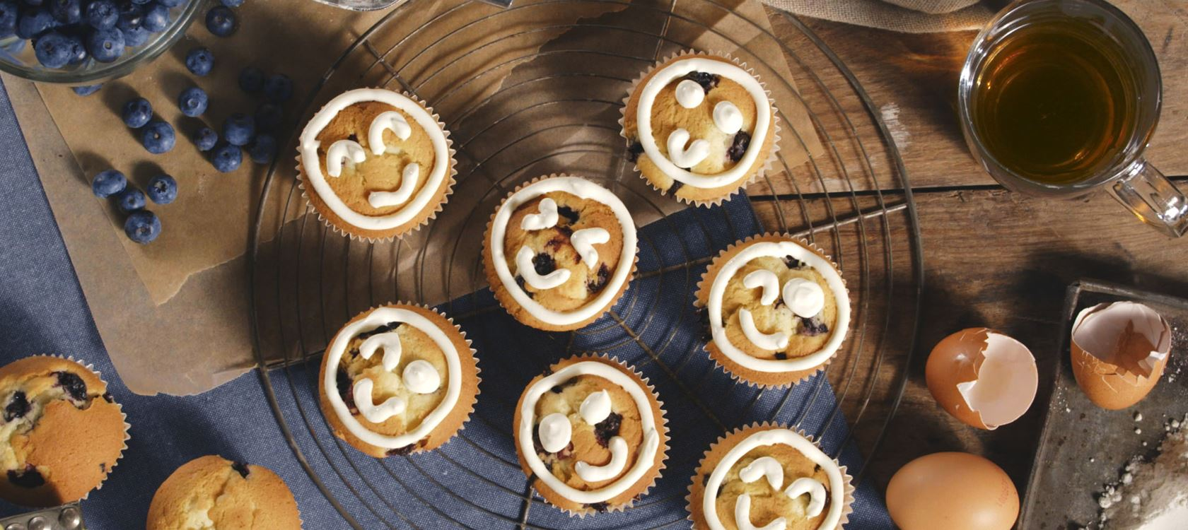 Emoji Muffins Rezept Arla Foods