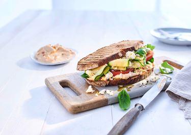 Sandwich mit Arla Buko des Jahres