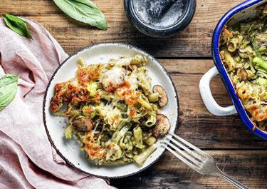 Pasta-Auflauf mit Pesto powered by KptnCook