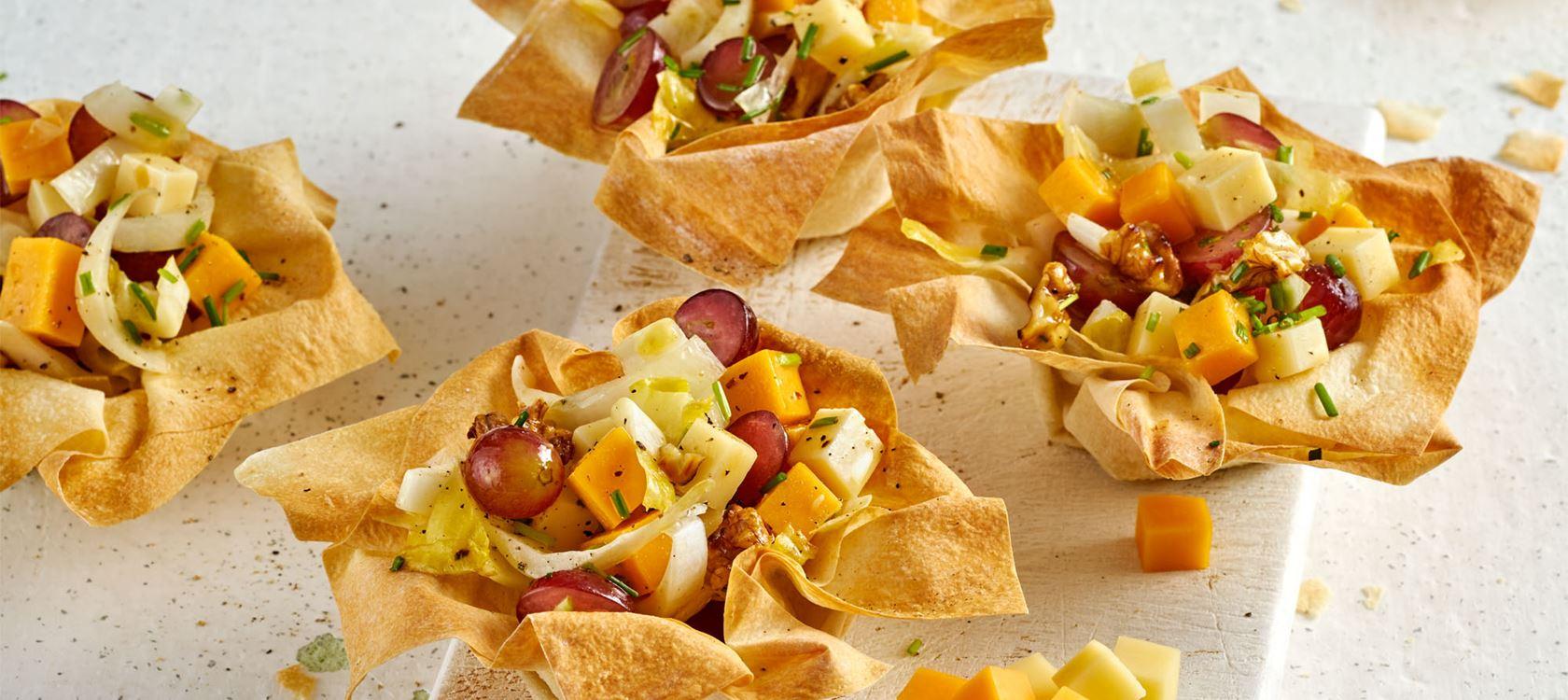 Filoteig-Muffins mit Salatfüllung und Finello Salatwürfeln