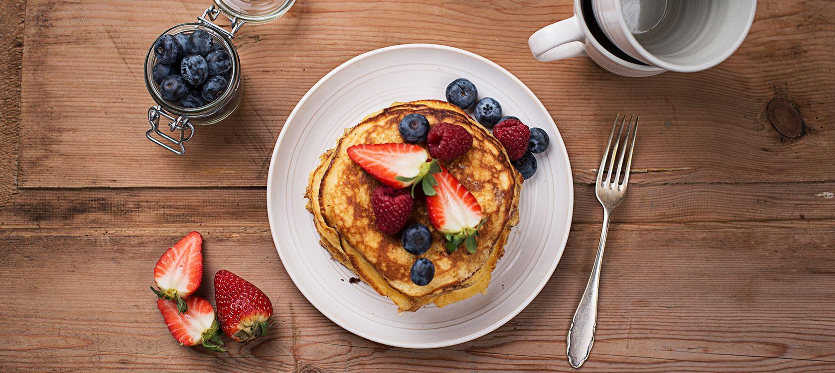 Leichte Frischkäse Pancakes mit Arla Buko® Balance