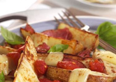 Überbackene Kartoffelecken mit Finello® Gratinkäse
