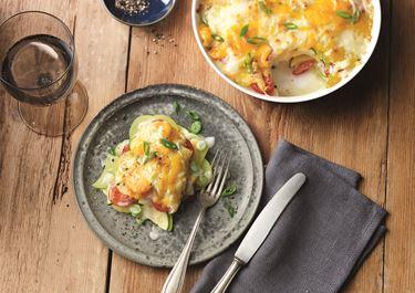 Kartoffelauflauf mit Zucchini und Kirschtomaten mit Finello® Ofenkäse