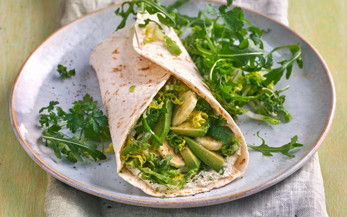 Arla Buko® Jalapeño-Wrap mit Avocado und Salat