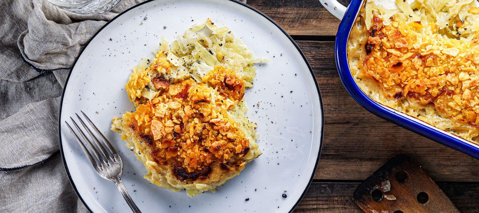 Kartoffelgratin mit knusprigem Cornflakes-Topping powered by KptnCook