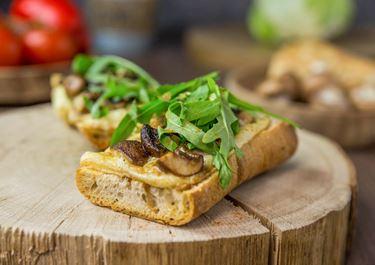 Grilled Cheese Sandwich mit Champignons