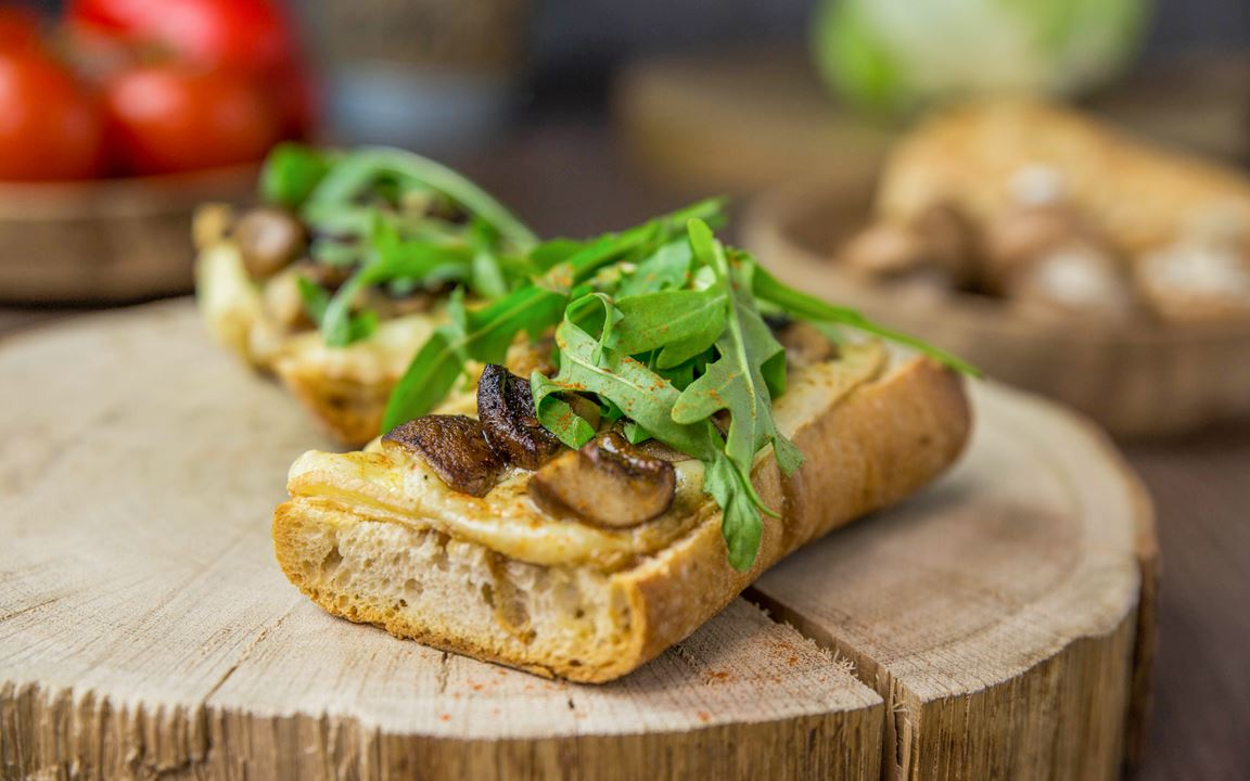 Grilled Cheese Sandwich mit Champignons