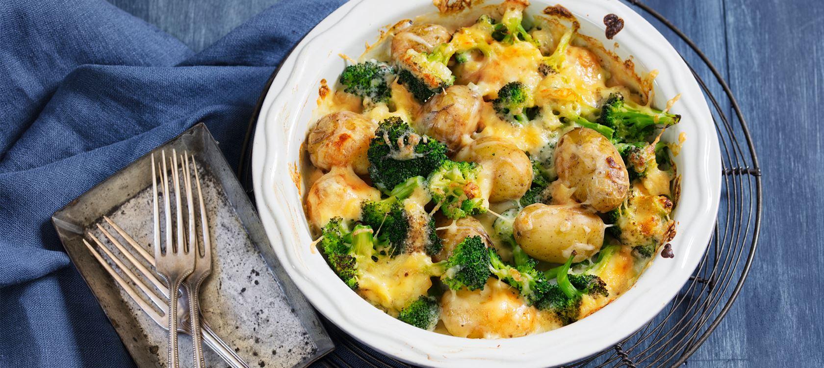 Brokkoli-Kartoffelgratin mit Finello® Ofenkäse