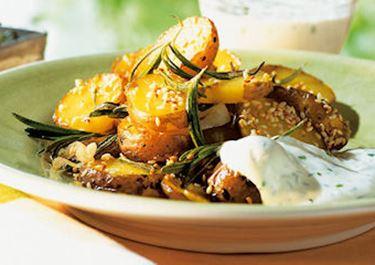 Sesamkartoffeln vom Blech
