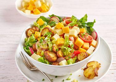 Brezelsalat mit Finello Salatwürfeln, Honig und Senf