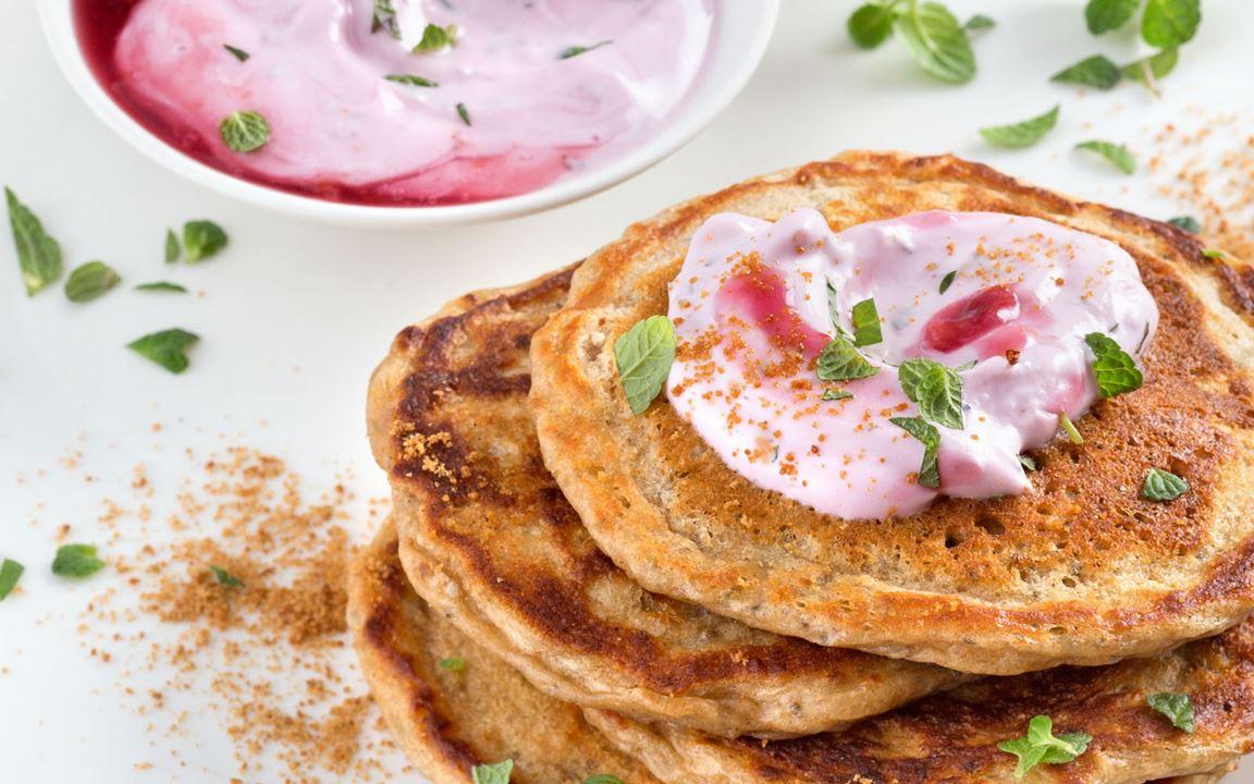 Chia-Pancakes mit Arla® Skyr
