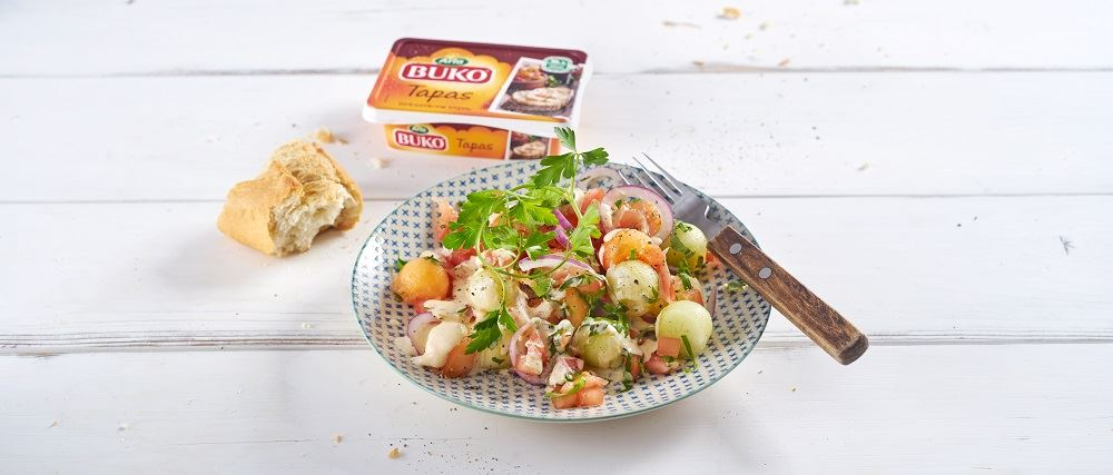 Trampo-Salat mit Arla Buko® Tapas Dressing
