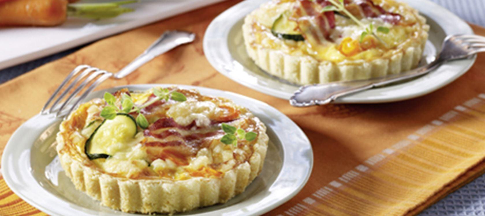 Käse-Pastetchen mit Zucchini und Möhren