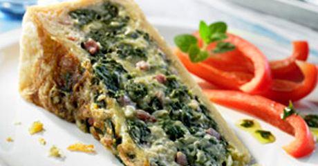 Spinatkuchen mit Finello® Gratinkäse
