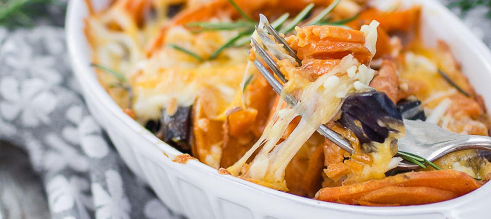 Süßkartoffelauflauf mit Finello® Ofenkäse