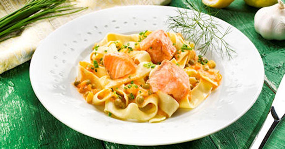 pasta mit meerrettich fisch sauce rezept arla foods. Black Bedroom Furniture Sets. Home Design Ideas