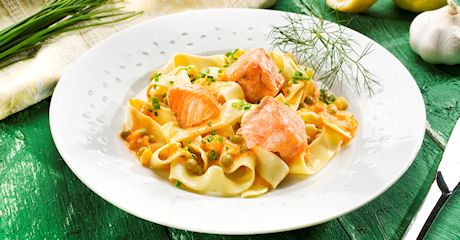 Pasta mit Meerrettich-Fisch-Sauce