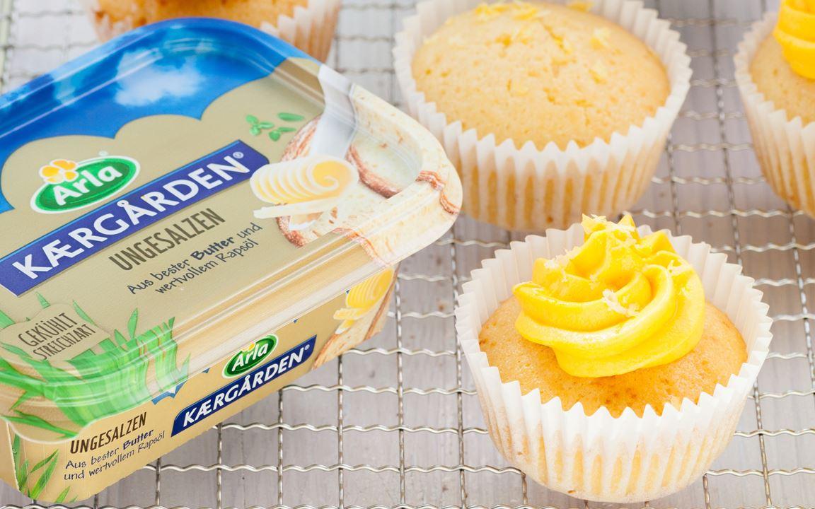 Zitronen-Muffins mit Frischkäse-Buttercreme