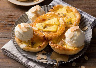Arla Buko® Ananas-Lavendel-Tartelettes