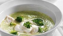 Karrykrydret broccolisuppe med fisk