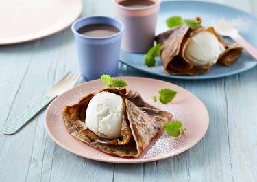 Kakaopandekager med is
