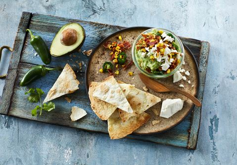 Guacamole med toppings