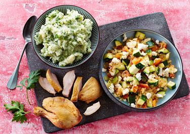 Kartoffelmos med blandede grøntsager