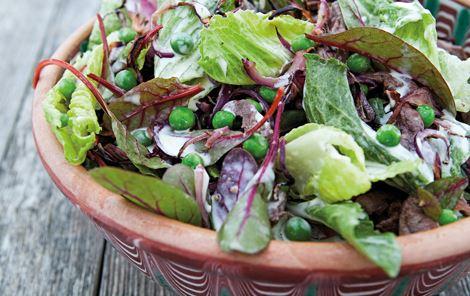 Salat med lune løg