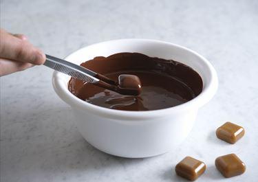 Chokoladetemperering i mikroovn