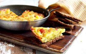 Kartoffelfrittata med ost