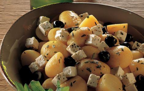 Kartofler i hvidvin