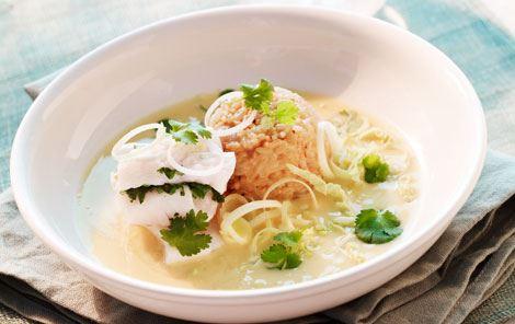 Krydret suppe med kuller og koriander