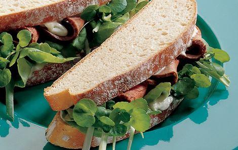 Sandwich med blå ostecreme