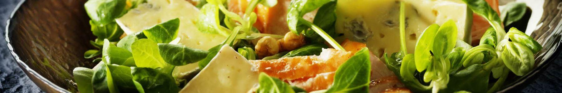 Salater + Varmrøget laks