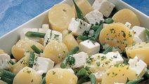Kartoffelsalat med bønner og ost