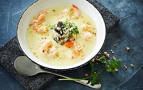 Thaisuppe med svampe-ristoppe