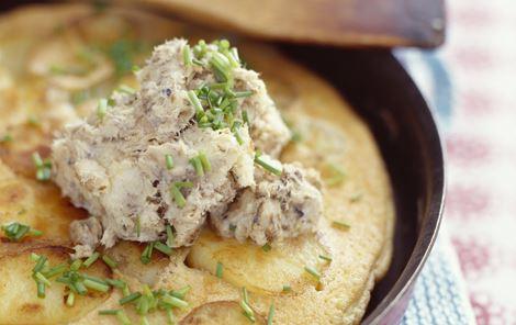 Omelet med sardinsmør