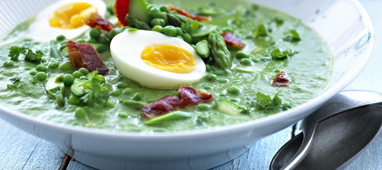 Suppe med 9 slags grønt