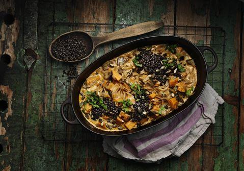 Sød kartoffel curry
