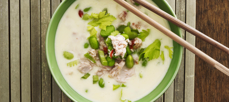 Tun og bønner i suppe