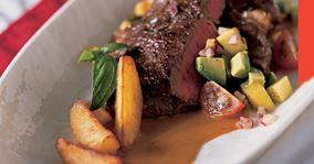 Ribeye steaks og mangosalsa