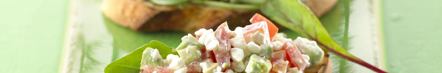 Fedtfattig + Vegetar + Hytteost + Snacks og tapas