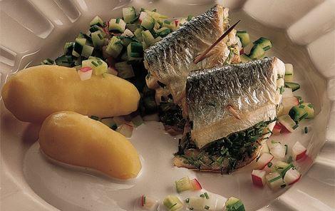 Hornfisk med radisesalat