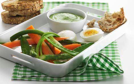 Salsa verde til æg og grøntsager