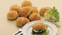 Burgerboller med solsikkekerner