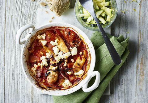 Portions-lasagner med tomat og kylling