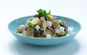 Citronmarinerede kartofler med oliven