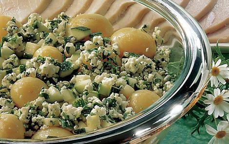 Kartoffelsalat med ost